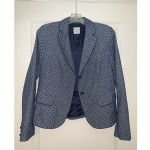 Blue Polka Dot Gap Blazer - size 2